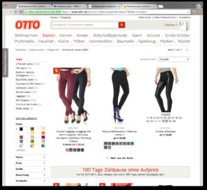 Otto - ett exempel på typiskt tysk webbdesign