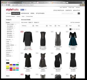 Stylefruits har typiskt tysk webbdesign